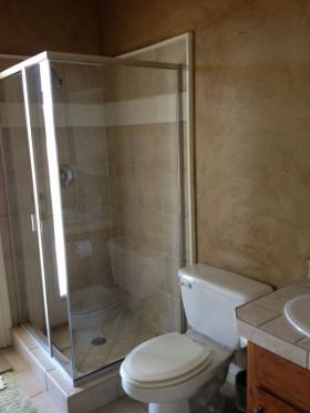 Pool Bathroom Before