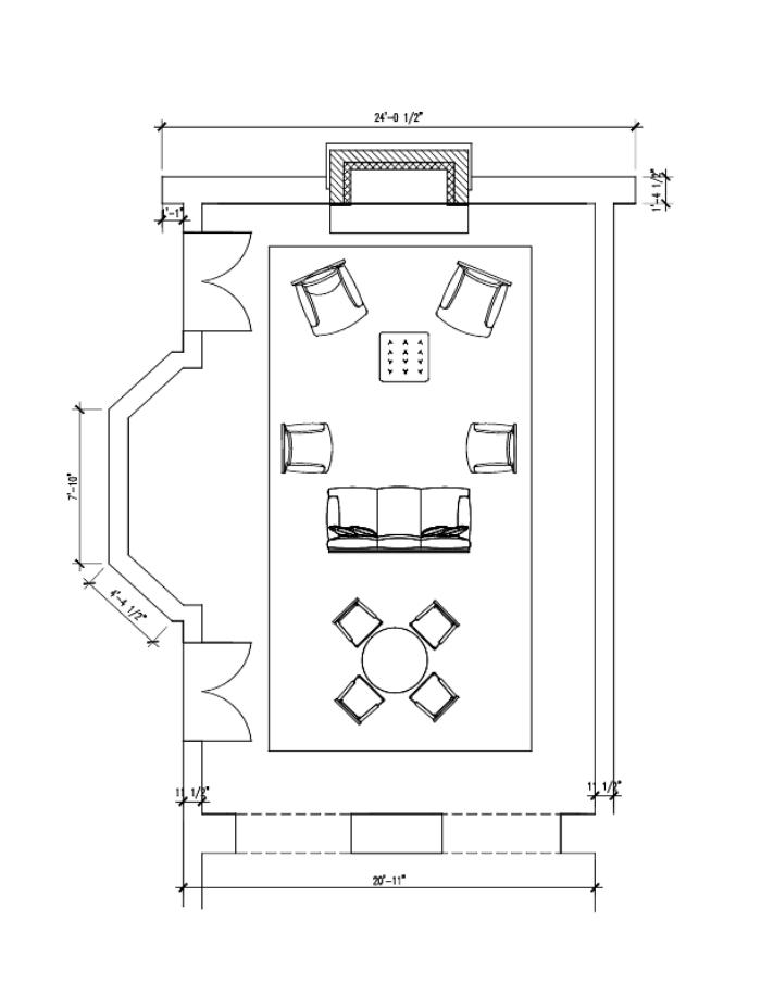Living Room Floor Plan Drawing